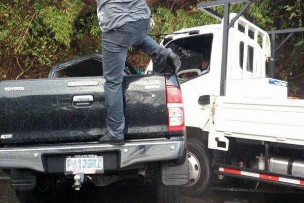 Accidente en ruta a El Salvador