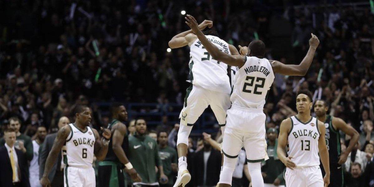 Bucks empata serie de primera ronda con Celtics