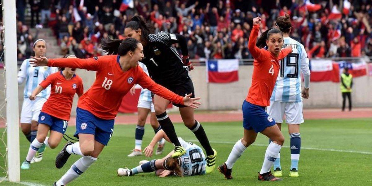 Así vivimos la histórica goleada de la Roja femenina sobre Argentina