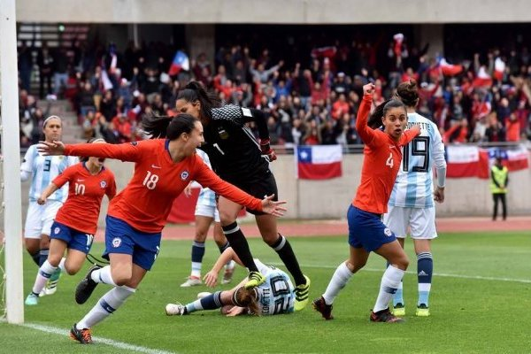 Risultati immagini per chile 4 argentina 0 femenino
