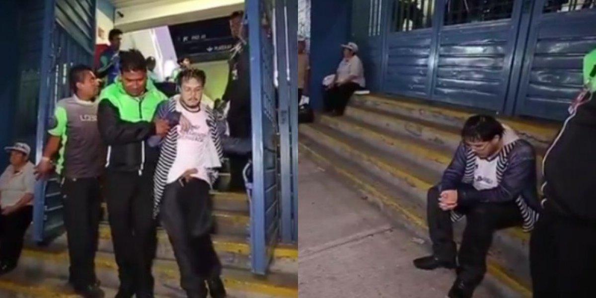 VIDEO: Así sacaron al último aficionado del Estadio Azul