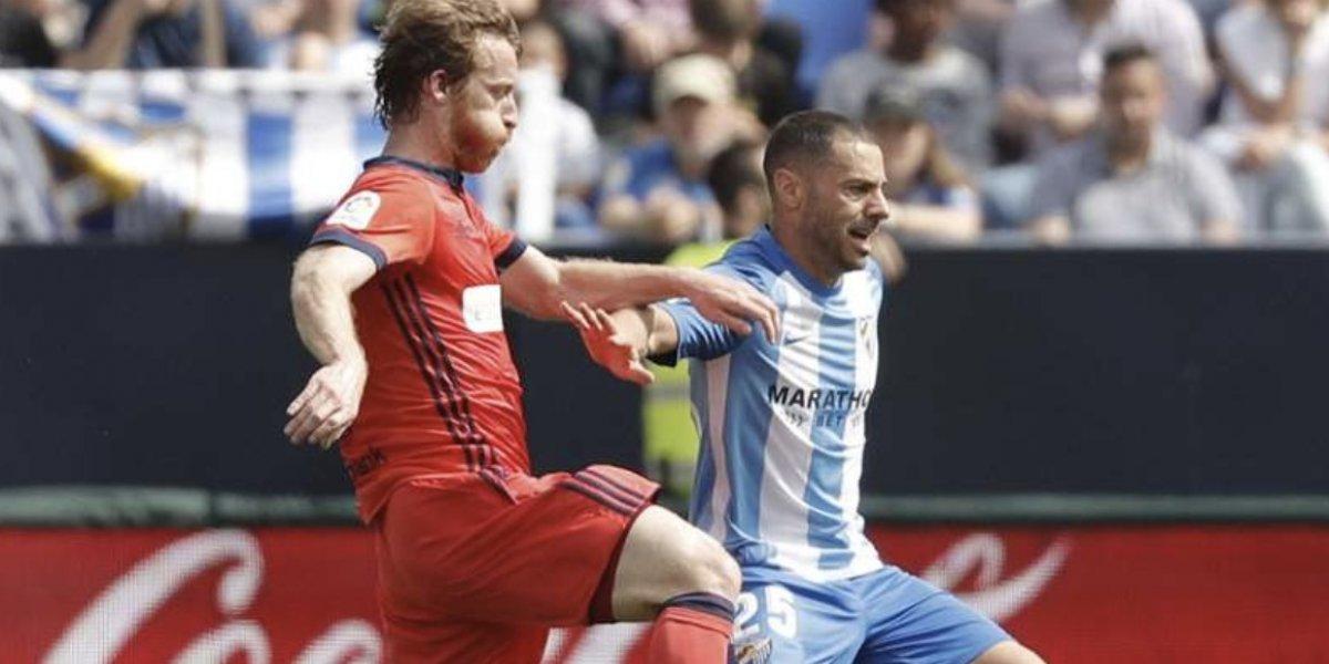 Real Sociedad pierde ante Málaga con Moreno como titular