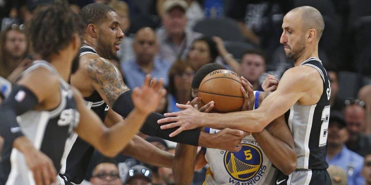 Ginóbili y Aldridge evitan barrida de Warriors sobre Spurs
