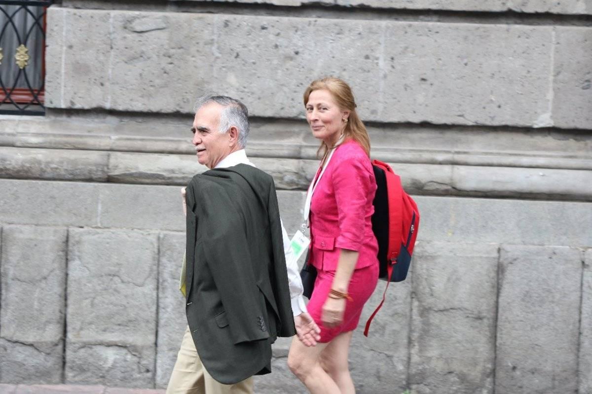 Alfonso Romo y Tatiana Clouthier Foto: Cecilia Borja | Publimetro