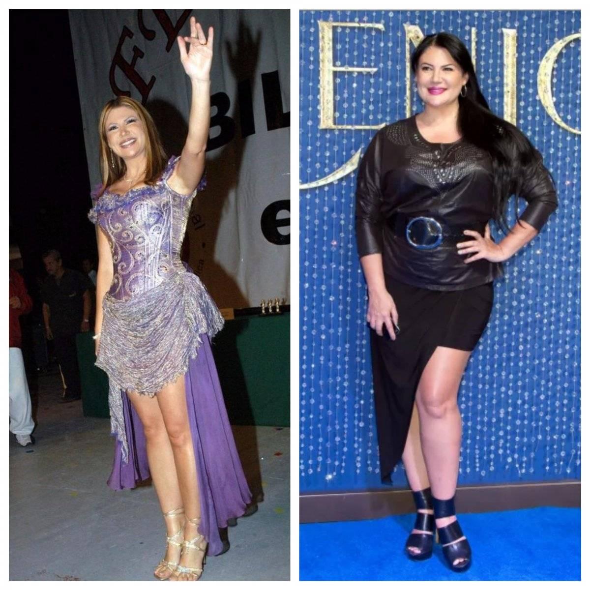 Alejandra Ávalos antes y después