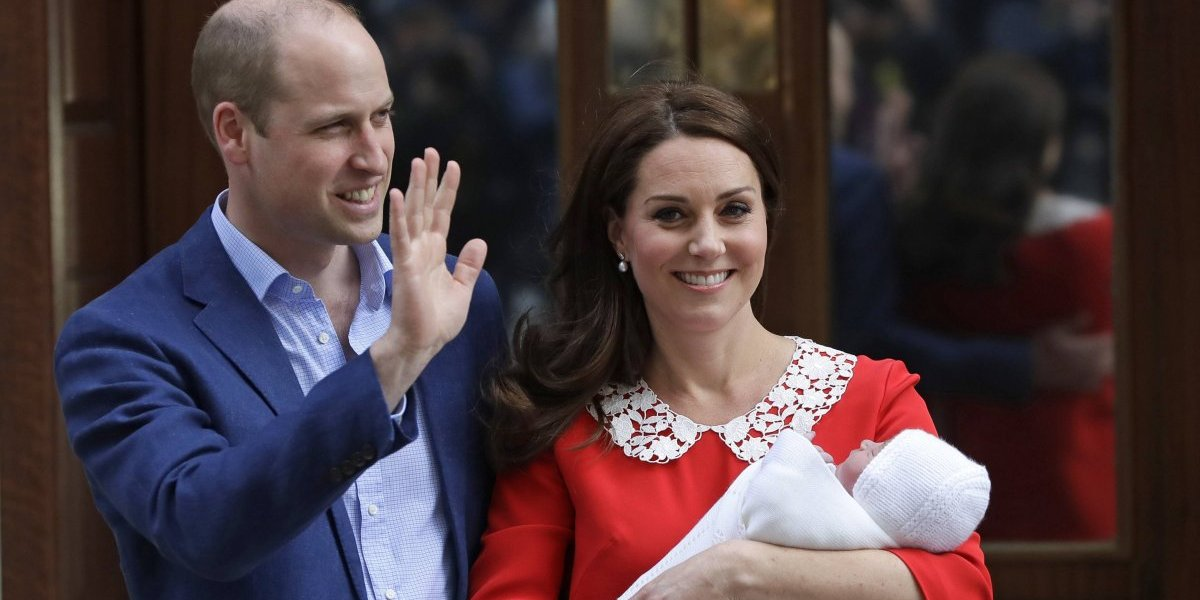 """It's a boy"": Kate Middleton da a luz a su tercer hijo con el príncipe William"