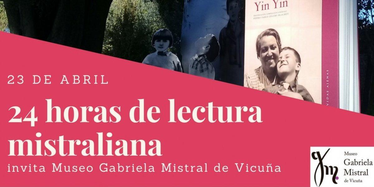 Día del Libro: museo de Vicuña realizará una maratón de lectura mistraliana durante 24 horas
