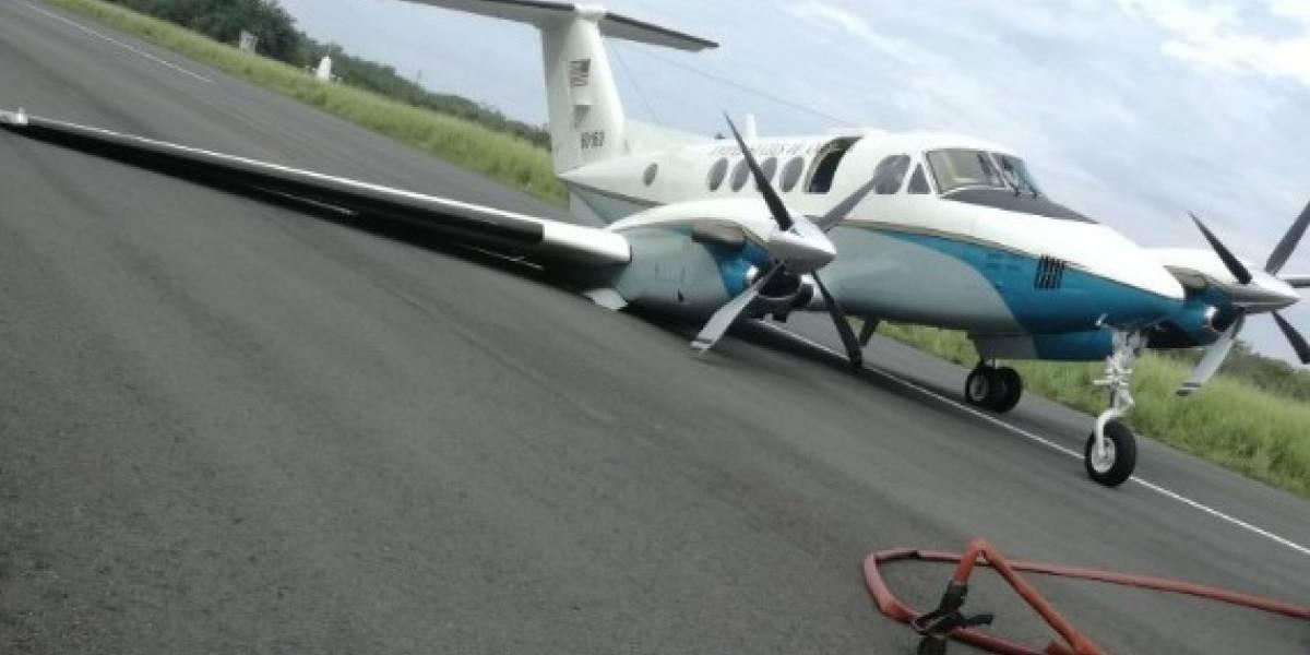 Avioneta de la embajada de EE.UU. aterriza de emergencia en Tumaco