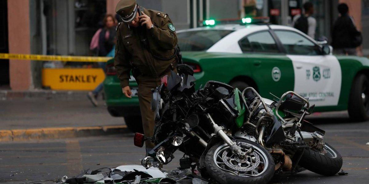 Escolta del Presidente protagonizó violento choque y termina grave en el Hospital de Carabineros