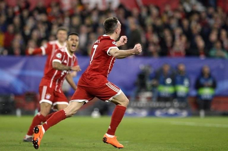 Gol del Bayern Múnich contra el Sevilla