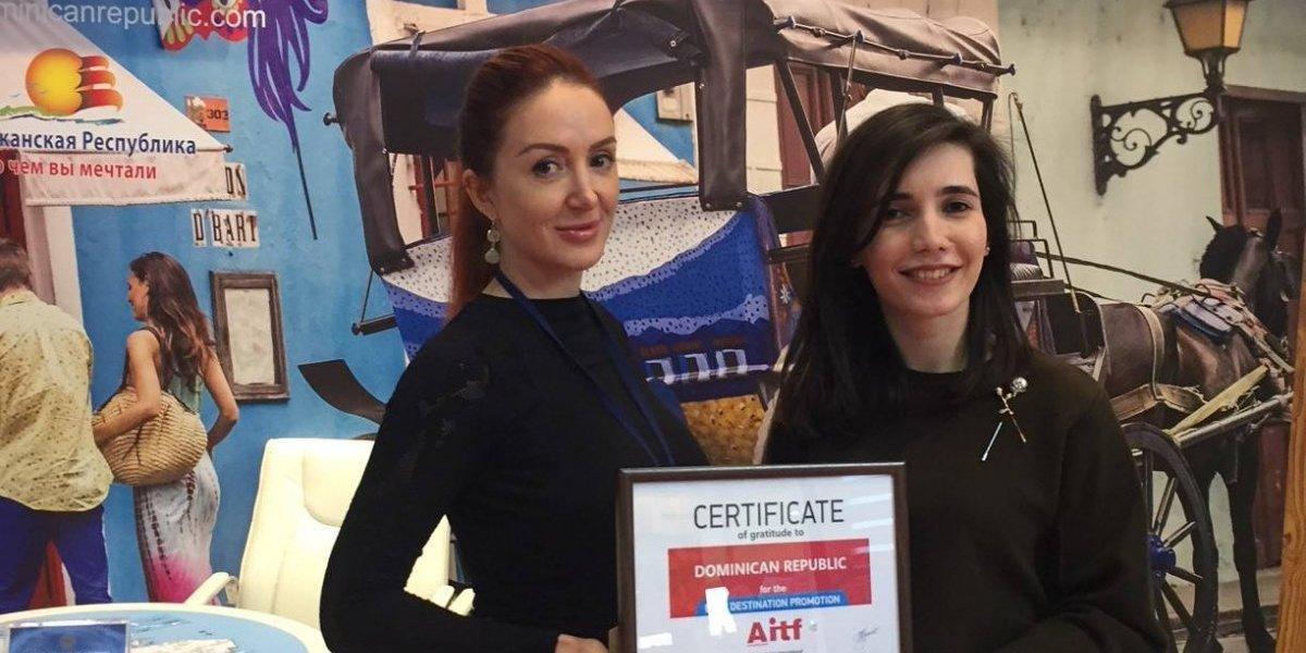 """RD obtiene premio """"Mejor Promoción del Destino"""" en  Feria AITF Bakú, Azerbaijan"""