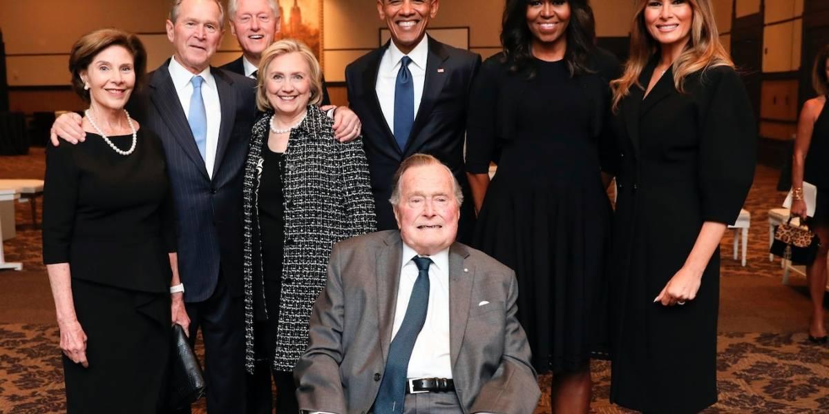 En cuidados intensivos George H.W. Bush