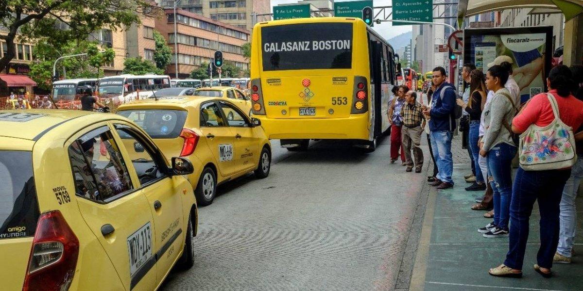 ¡Prepárese! Este miércoles habrá paro de taxistas en Medellín