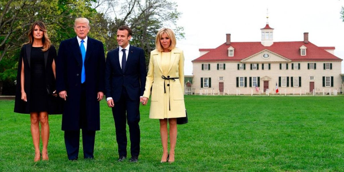Luego de pomposa ceremonia, difíciles temas entre Trump y Macron