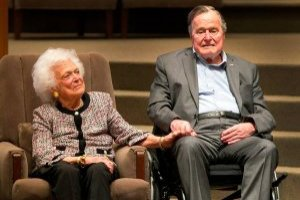 George H. W. Bush y su fallecida esposa