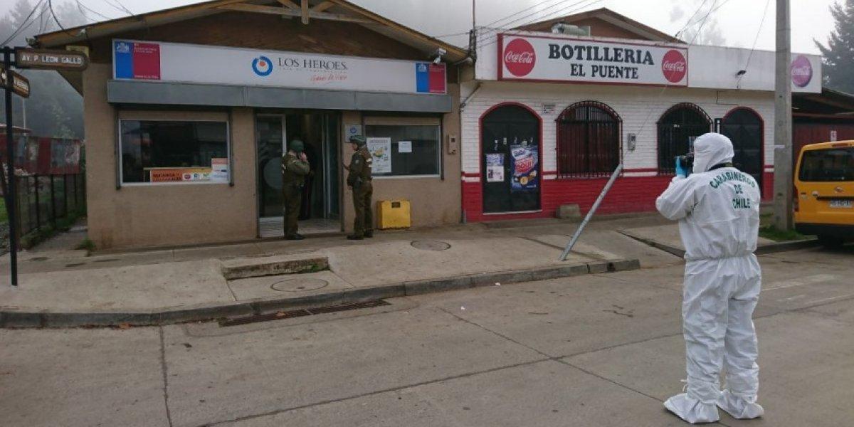Increíble historia del asalto con rehenes en Galvarino: carabinero herido a bala persiguió a delincuentes hasta detenerlos