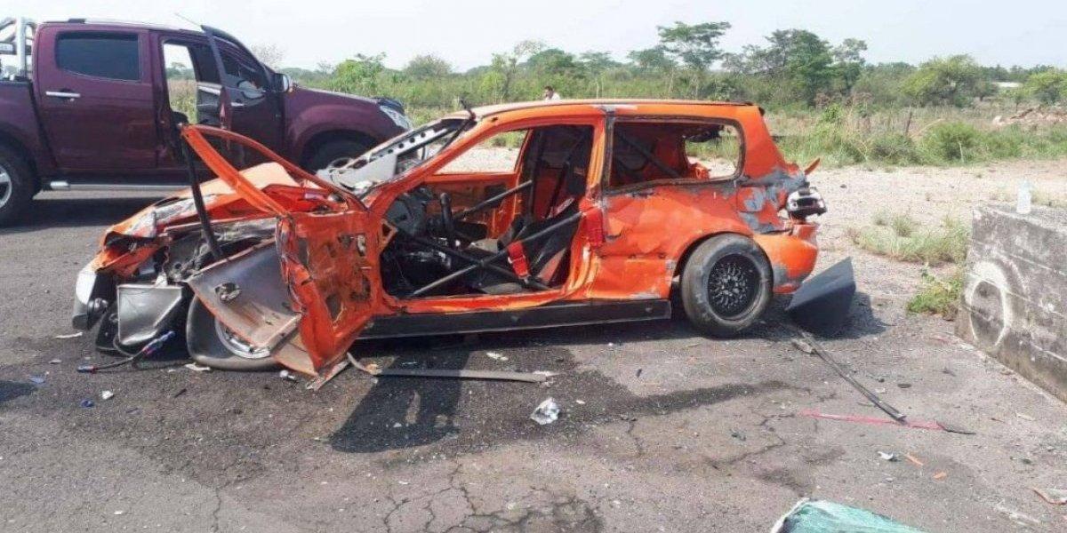 Piloto muere trágicamente tras chocar en las prácticas del Campeonato Nacional