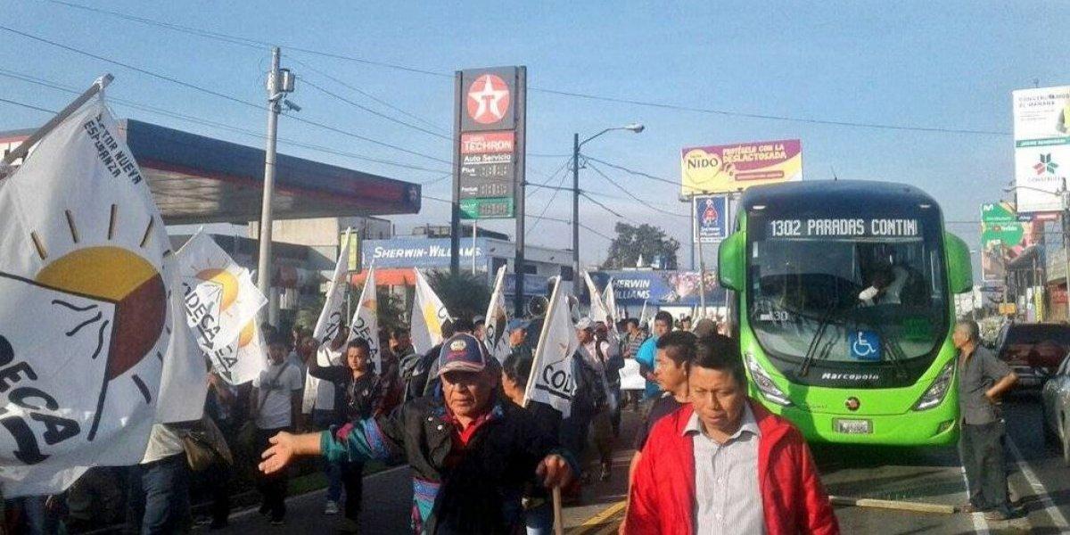 Transmetro suspende servicio en varias líneas por manifestaciones de Codeca