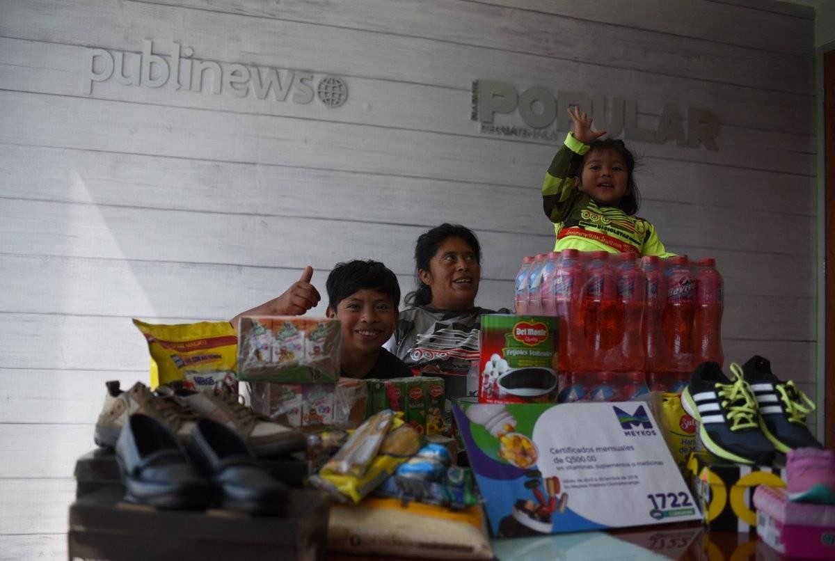 Publinews y El Popular le otorgaron productos de primera necesidad