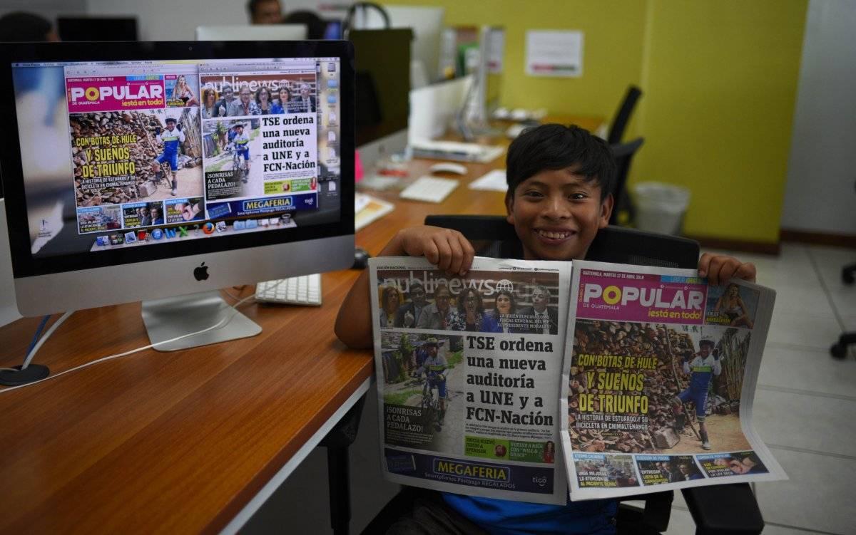 Publinews y Diario El Popular le hicieron su primera publicación
