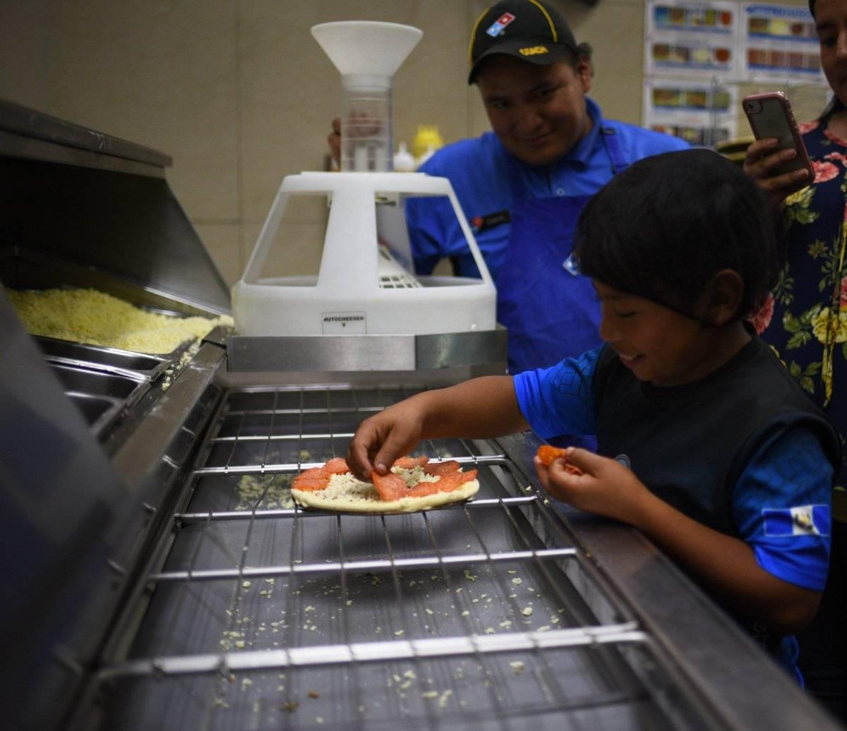 Hizo su primera pizza