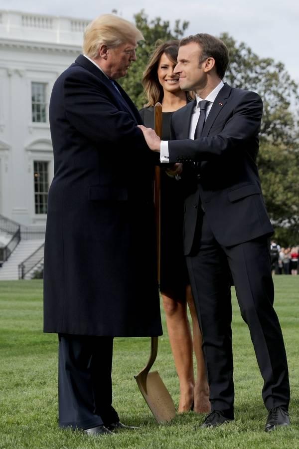 Trump y Macron son amigos.