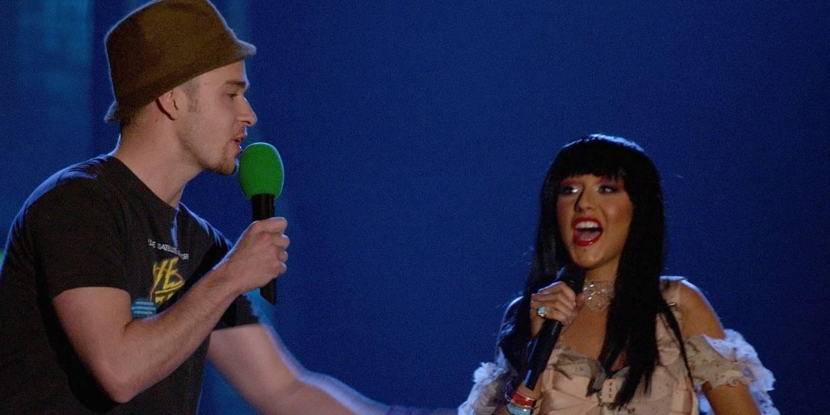 Christina Aguilera diz que esteve em um triângulo amoroso com Britney e Justin Timberlake na adolescência