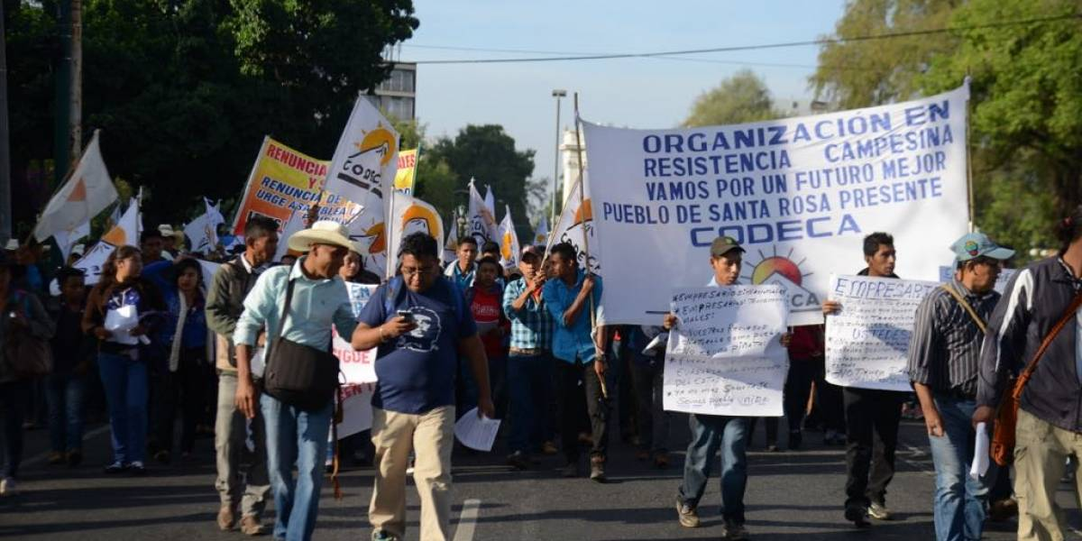 Manifestaciones salen desde cuatro puntos distintos en la capital