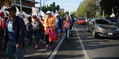 manifestación de Codeca en la capital