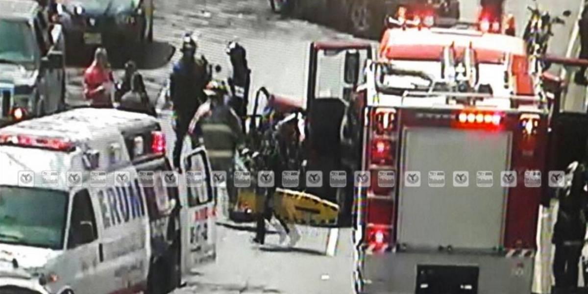 Fuerte accidente automovilístico en Azcapotzalco