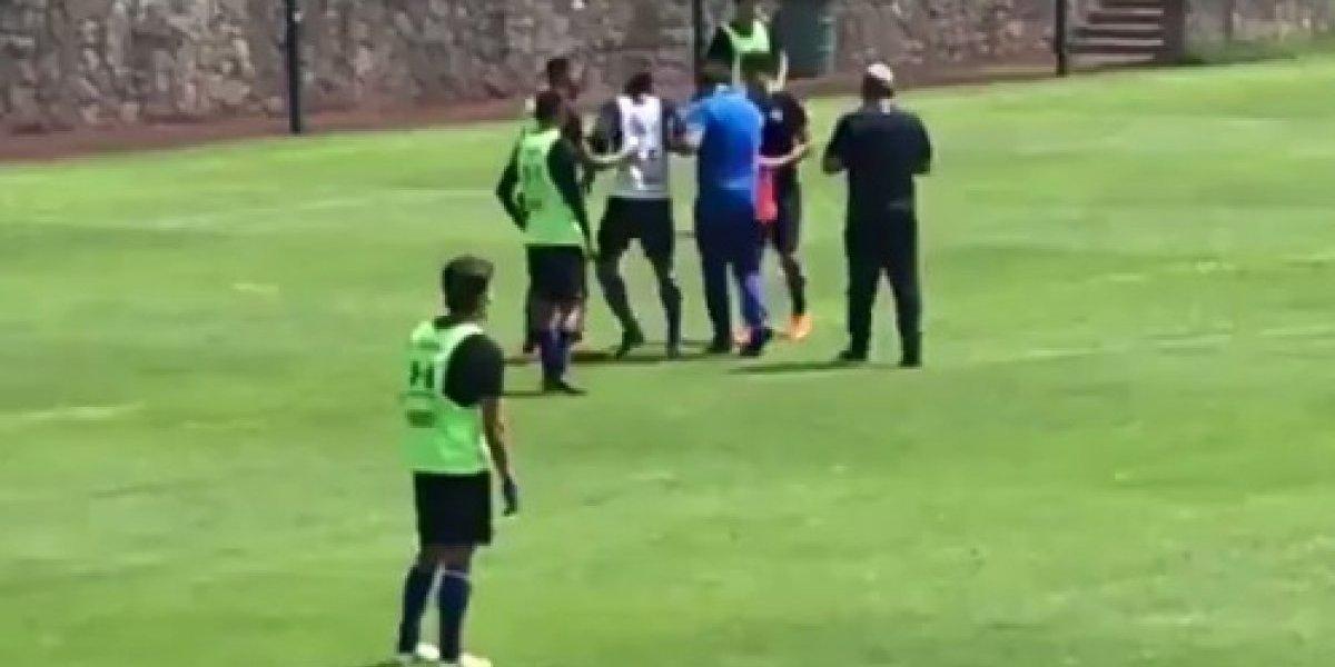 VIDEO: Carlos Peña se lesiona en pleno entrenamiento
