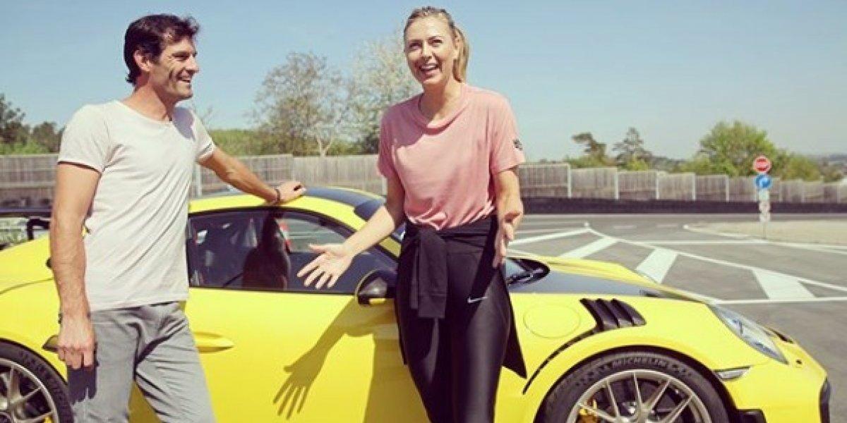 Escucha los gritos que dio María Sharapova a bordo de un auto de carreras