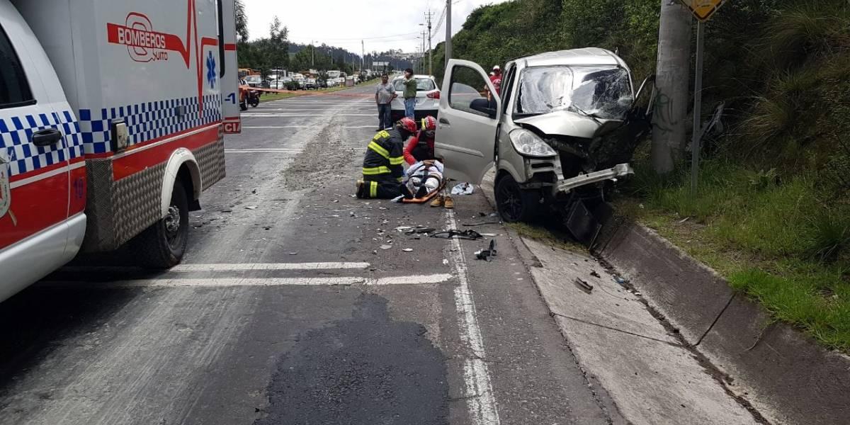 Accidente de tránsito en Carapungo deja tres personas heridas