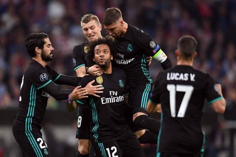 Marcelo en el primer gol del Madrid