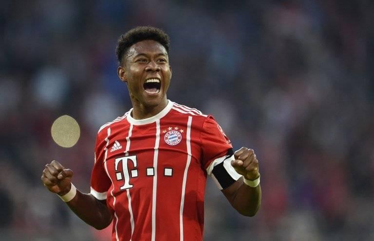 David Alaba en un juego del Bayern