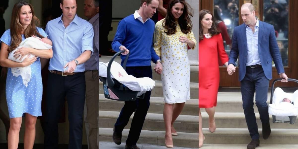 Kate Middleton e príncipe William usam mesma touca, cobertor e bebê conforto para os três filhos
