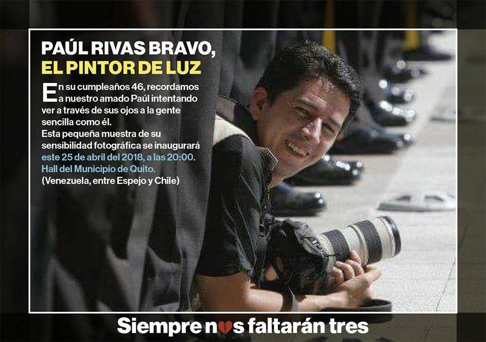 Muestra fotográfica en honor a Paúl Rivas