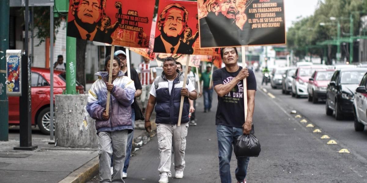 Empleados de la CDMX acusan ser obligados a protestar contra AMLO