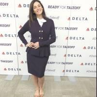 Eu de aeromoça da Delta
