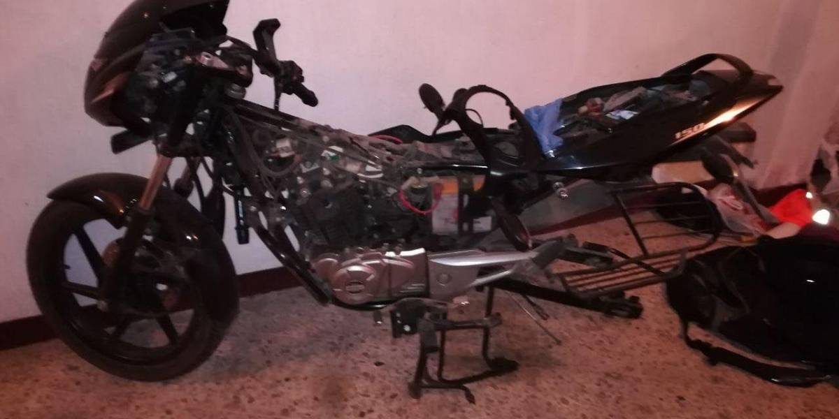 PNC descubre guarida de alquiler de motos para delinquir