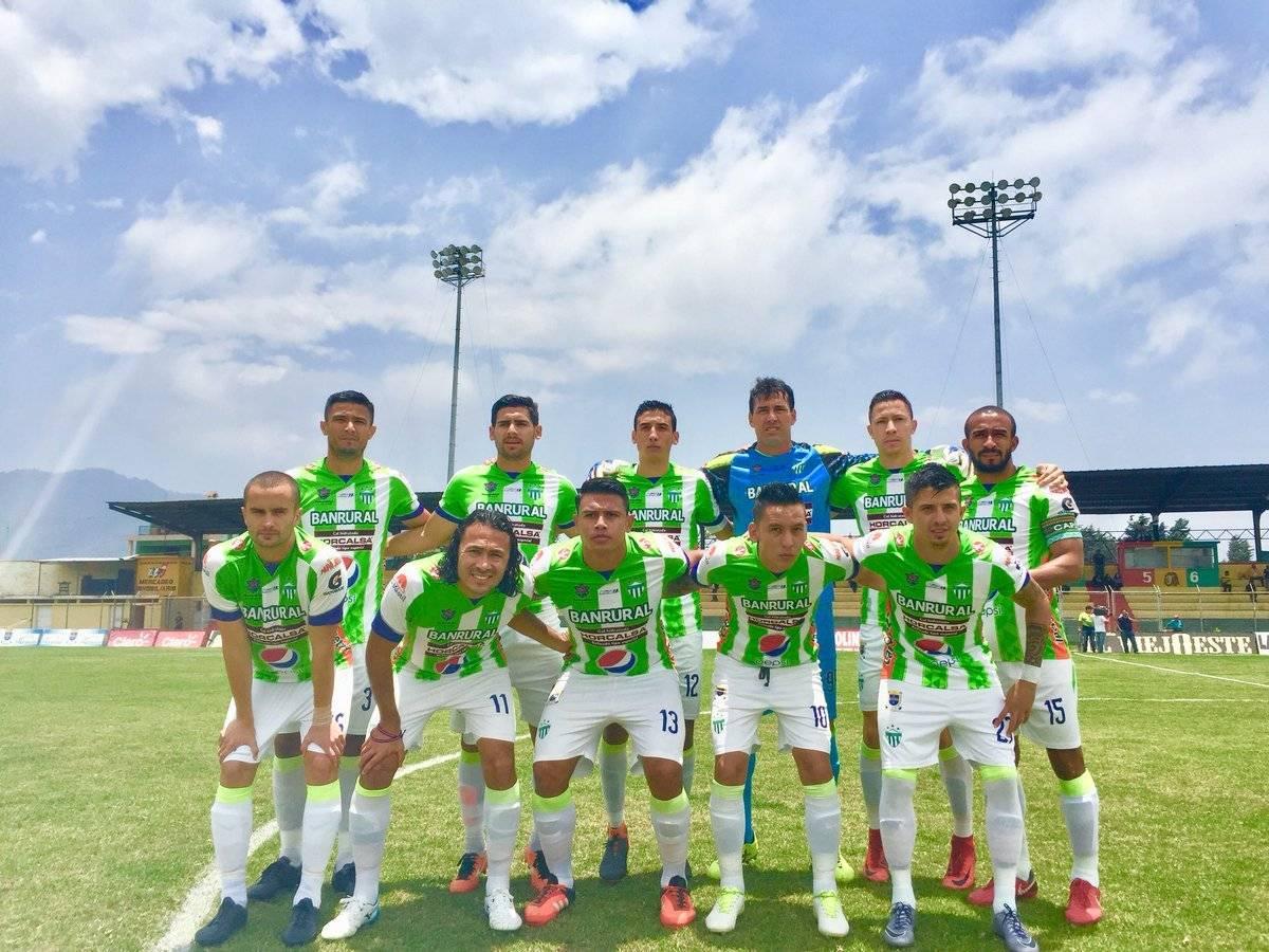 El equipo titular de Antigua ante Marquense