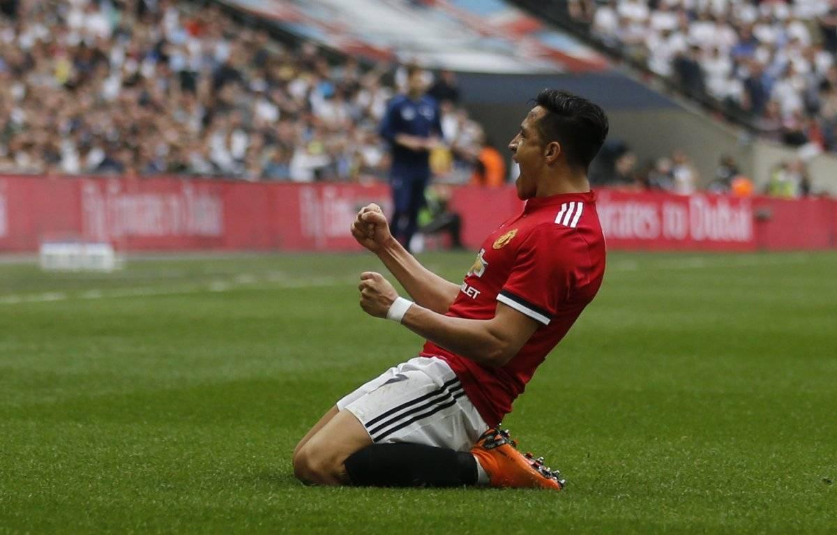 La última joya de Alexis en Wembley fue ante Tottenham por la FA Cup / imagen: AP