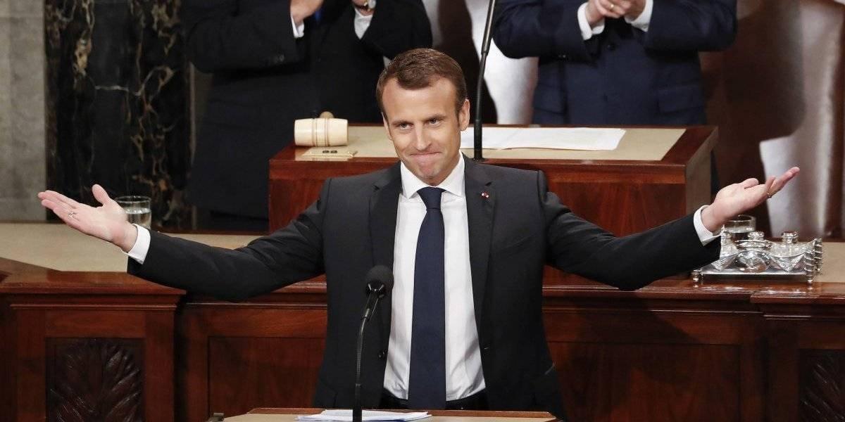 Sin reparos Macron durante discurso ante el Congreso de EE. UU.