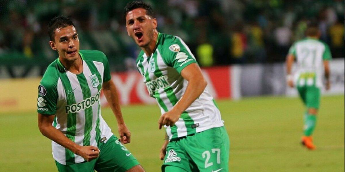 Jugó para Colo Colo: Atlético Nacional goleó a Bolívar y deja abierto el Grupo B en la Copa Libertadores