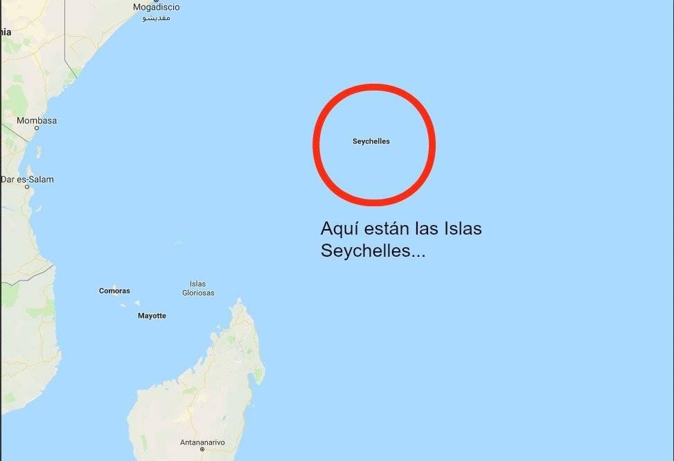 Aquí estás las Islas Seychelles