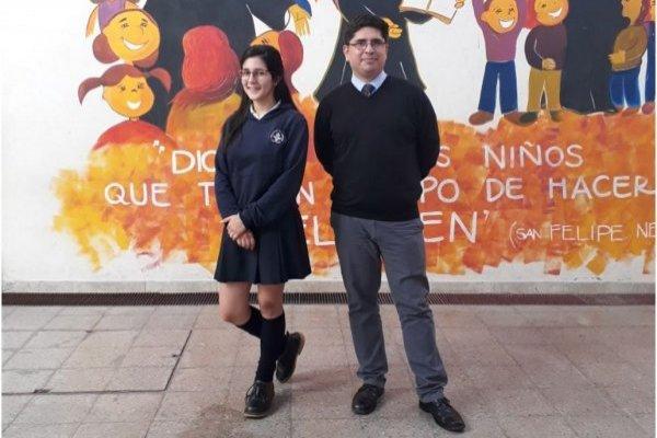 Valeria Farah y su profesor Carlos Fariña andan en busca de $6 millones