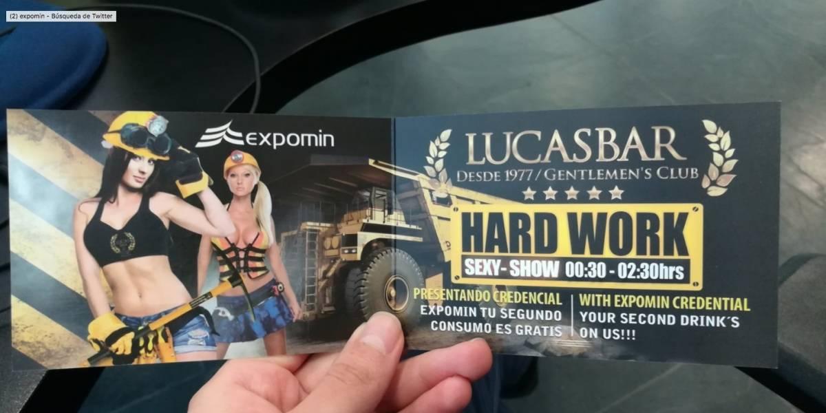 """""""¿Esto es para estimular la minería?"""": el fuerte debate por la publicidad sexista e invitaciones a clubes nocturnos en Expomin"""