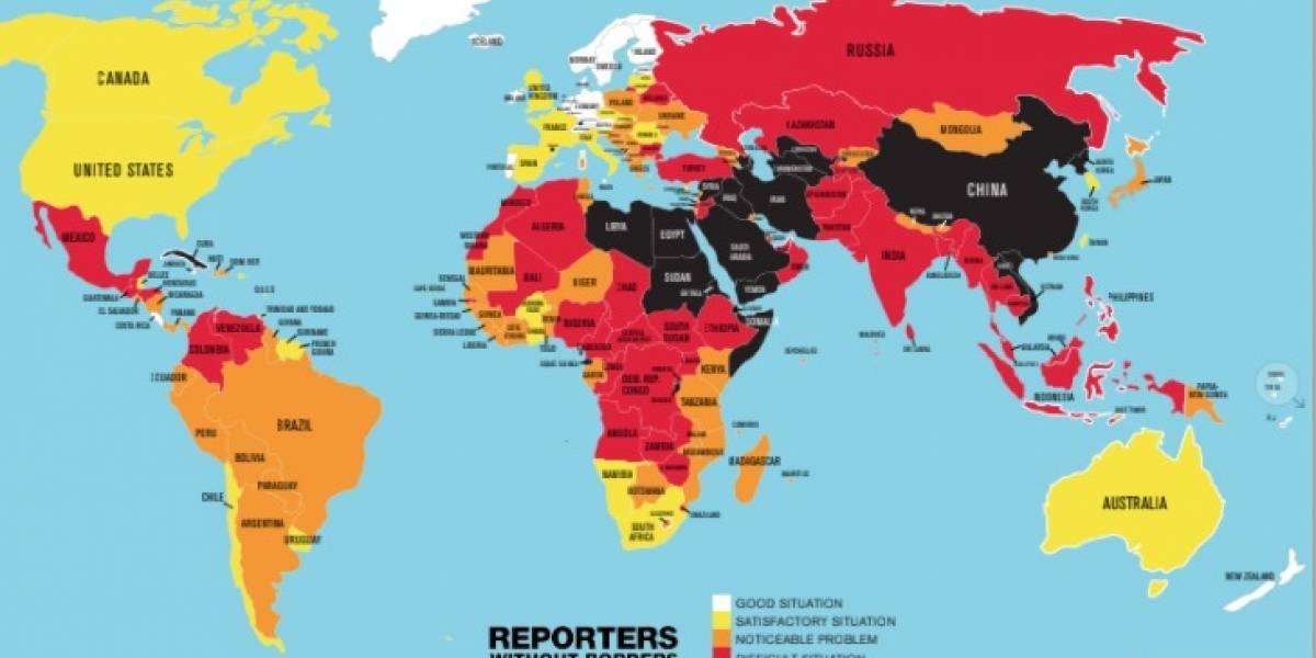 Ranking de Reporteros Sin Fronteras: Chile cae cinco puestos en libertad de prensa y se ubica 38 a nivel mundial