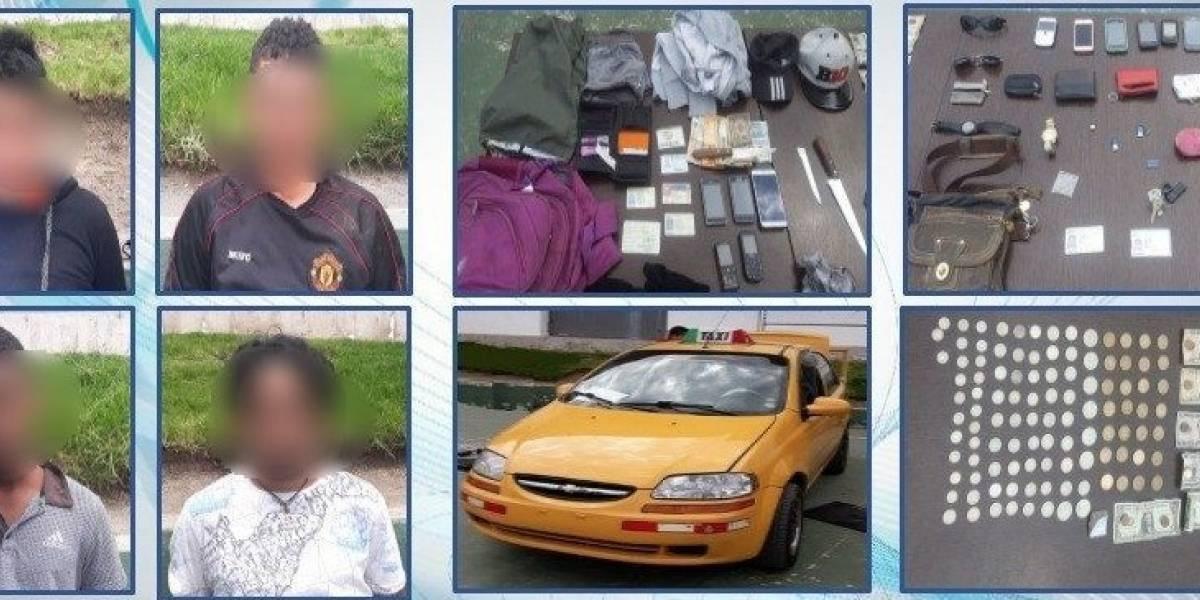 Policía detiene a banda delictiva dedicada al robo en ejes viales en Quito