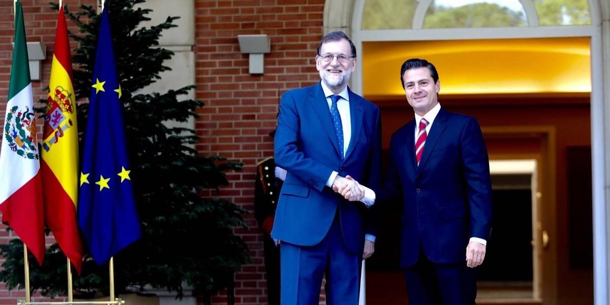 Peña Nieto y Rajoy se reúnen para celebrar acuerdo México-UE